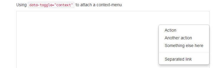context menu plugin Bootstrap
