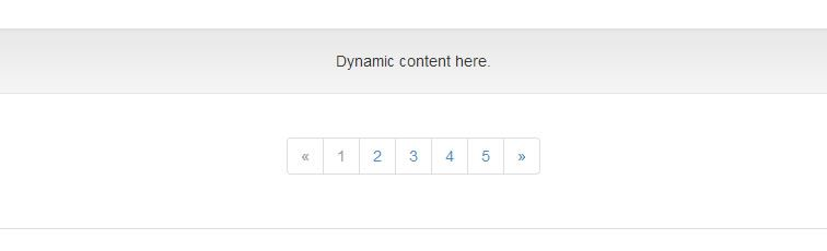 jQuery plugin create dynamic pagination Bootstrap
