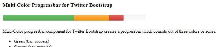 multi-color progressbar component addon Bootstrap