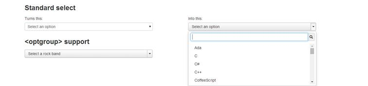 plugin styling select element Bootstrap