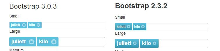 jQuery plugin adding tagging functionality Bootstrap