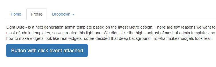 plugin switches Bootstrap Tabs component collapse small screens