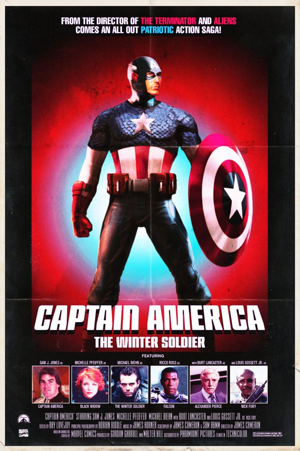 Captain America different time and place movie poster