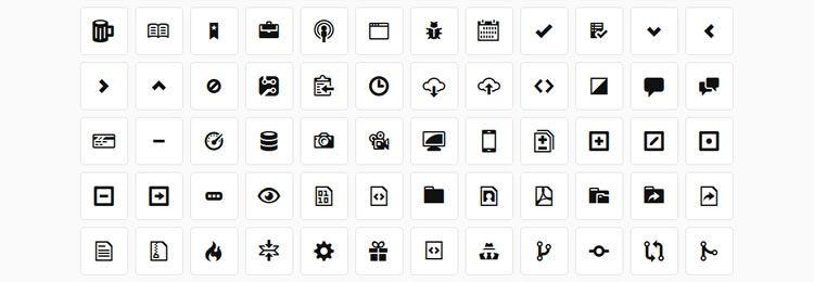 Octicons free GitHub webfont