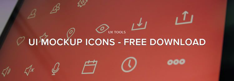Free UI Mockup Icons 63 Icons PSD PNG