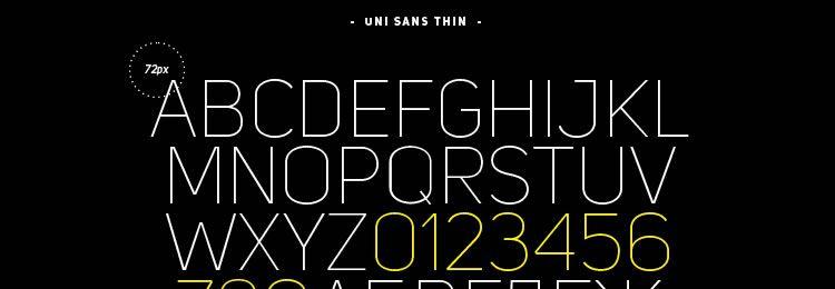 Uni Sans Free Font Thin Italic Heavy Italic