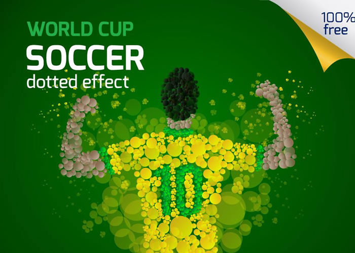 Freebie: Dotted World Cup Soccer Template Pack (AI & EPS)