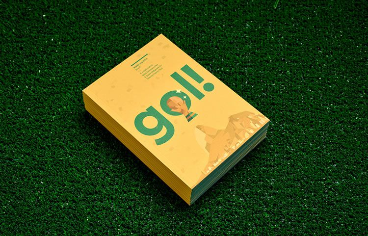 stacked book gol world cup brazil 2014 illustration cover