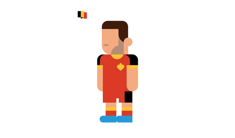 eden hazard belgium book gol world cup brazil 2014 illustration minimal