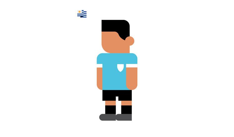 luis suarez uruguay book gol world cup brazil 2014 illustration minimal