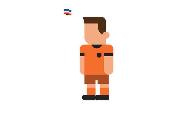 van persie robin netherlands book gol world cup brazil 2014 illustration minimal