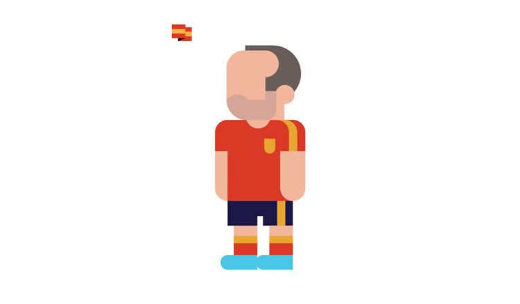 spain Andrés Iniesta book gol world cup brazil 2014 illustration minimal