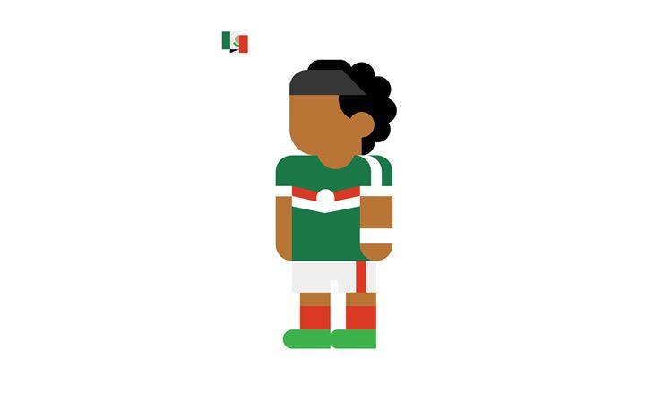 mexico giovanni dos santos book gol world cup brazil 2014 illustration minimal