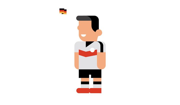 germany Mesut Özil book gol world cup brazil 2014 illustration minimal