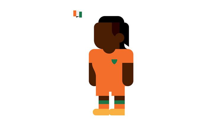 ivory coast didier drogba book gol world cup brazil 2014 illustration minimal