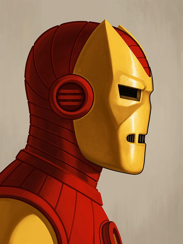 mike mitchell poster illustrated marvel superhero ironman