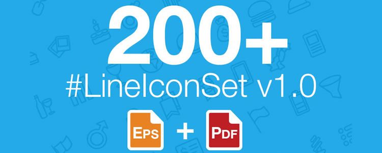 The Web and Mobile LineIconSet v1.0 200 Icons AI Resources for Designers