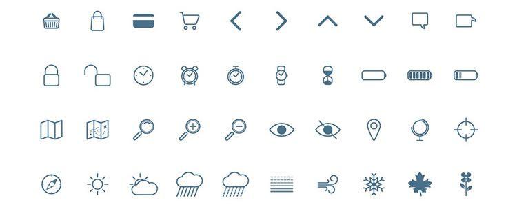 100 Free Icons PSD AI Webfont