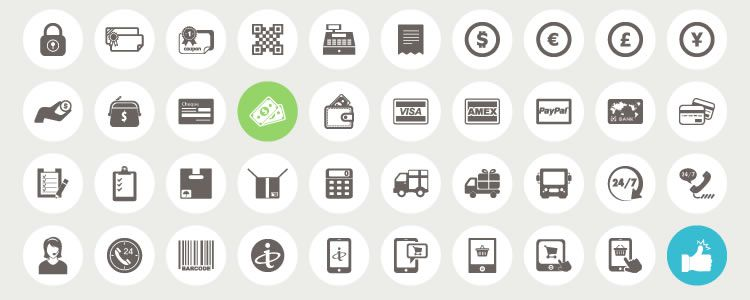 Ecommerce and Shopping Icons 70 Icons AI EPS PSD