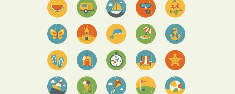 Summer And Essentials Icon Set 50 Icons EPS AI PNG
