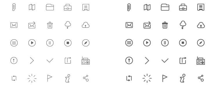 Wireframe Icons 230 Icons PSD