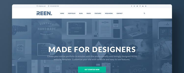 Creative Portfolio Bootstrap 3 Template PSD Resources for Designers