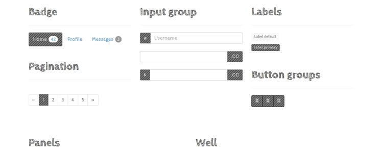 Bootsketch Bootstrap 3 Wireframing Theme HTML