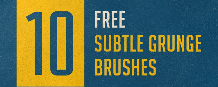 10 Subtle Grunge Brushes for Photoshop Resources for Designers