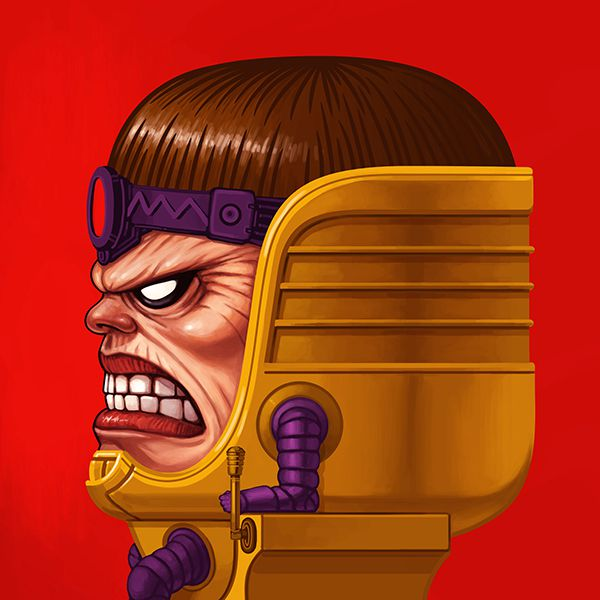 mike mitchell poster illustrated marvel villain MODOK