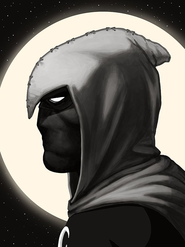 mike mitchell poster illustrated marvel superhero moon knight