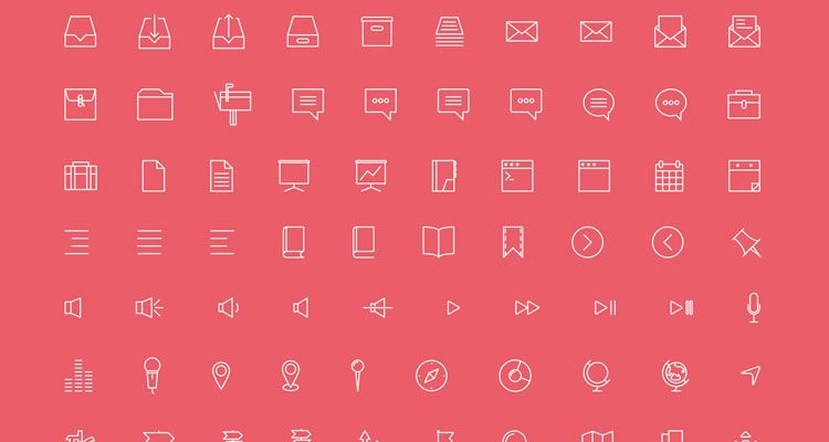 Simple Line Icons 100+ icons AI EPS SVG PSD formats free