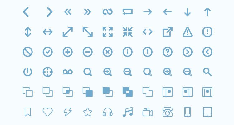 Mobile Icon Sets Freecons 155 icons AI EPS PSD formats freebie