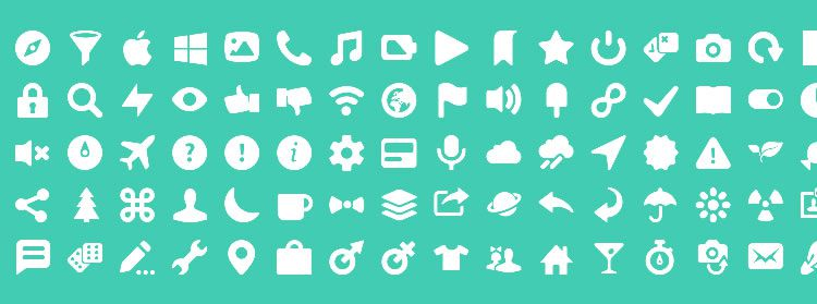 Mobile Icon Sets ICONY 100 icons SVG PSD PNG formats freebie