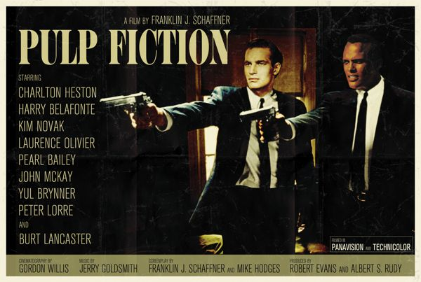 Pulp Fiction different time and place movie poster