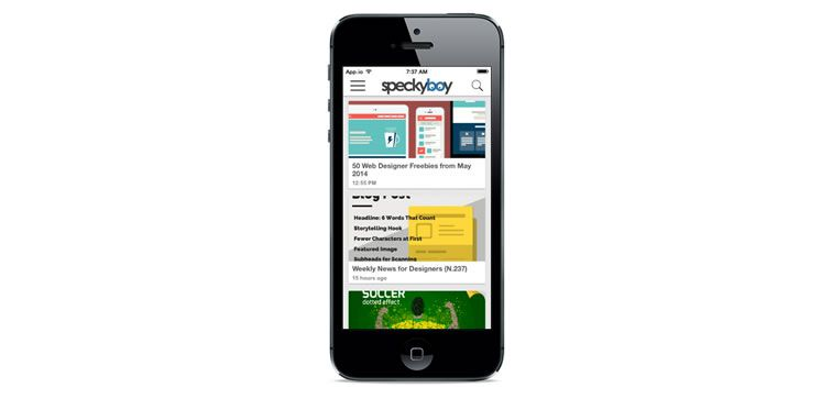 speckyboy ios app mobile iphone preview demo
