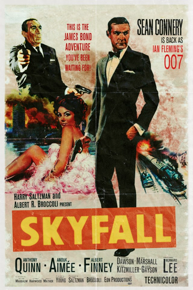 Skyfall alternative movie poster Peter Stults