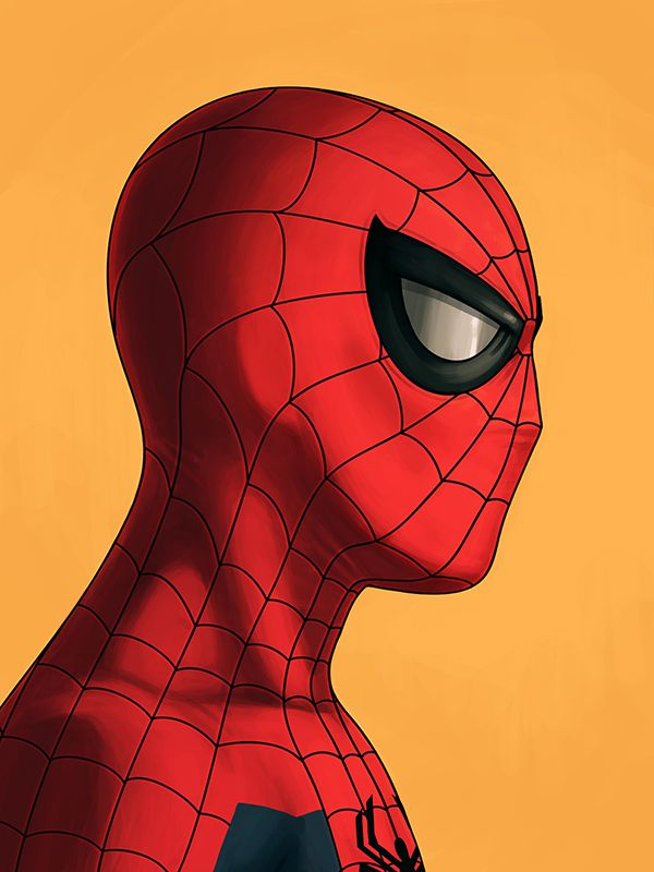mike mitchell marvel illustrated poster superhero spiderman