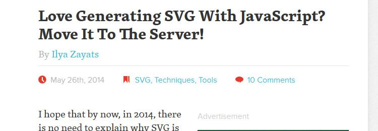 Love Generating SVG With JavaScript? Move It To The Server!