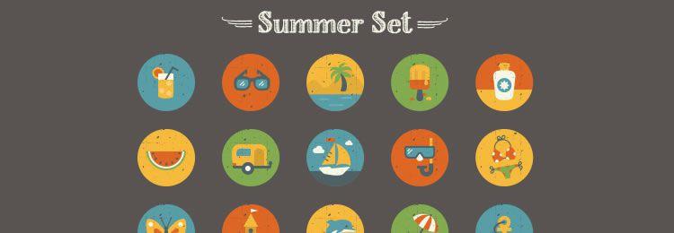 Summer And Essentials Icon Set