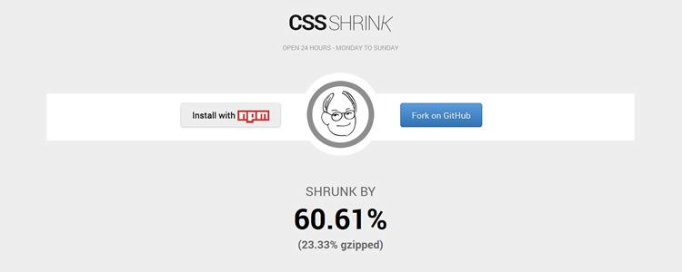 CSS Shrink a small tool for shrinking CSS files