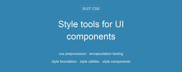 Suit CSS a collection of style tools for UI components