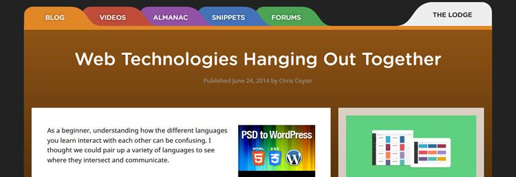 Web Technologies Hanging Out Together