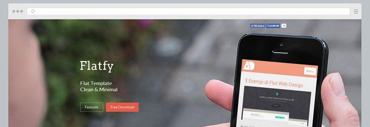 Flatfy Web Template HTML CSS