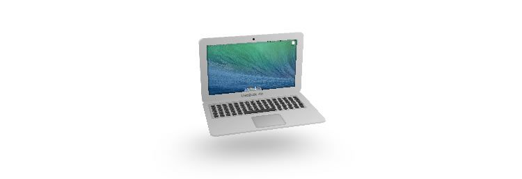 CSS Only 3d Macbook Air
