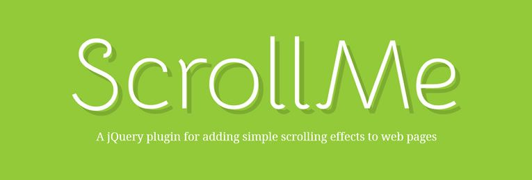 ScrollMe is a lightweight jQuery plugin that will allow you to add simple scrolling effects to web pages