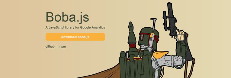 Boba.js is a small JavaScript library that makes working with Google Analytics very easy