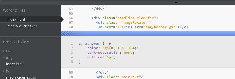 Response-for-Brackets responsive design tool extension Adobe's open source editor Brackets