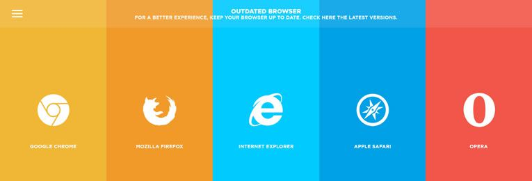 Outdated Browser is a time-saving tool for developers that detects outdated browsers and recommends users to upgrade to a new version