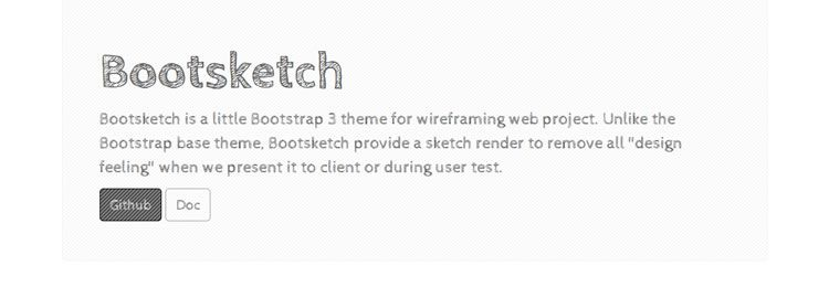Bootsketch is a Bootstrap 3 theme built specifically for wireframing