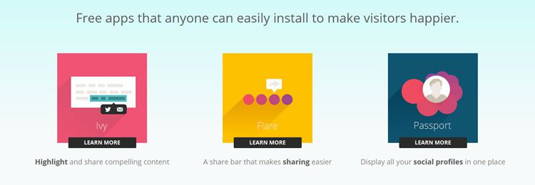 Filament is a collection of free social apps you can easily install on your site